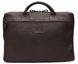 Tmavo hnedá kožená taška CAMPO Tabacco 20201405