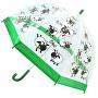 Detský priehľadný palicový dáždnik Buggz Kids Stuff Sheep Bushom