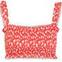 Bikini reggiseno da donna PCNIKITA 17101700 High Risk Red AOP:FLOWER PRINT