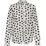 Dámska košeľa JDYLEAF Treats L / S SHIRT WVN Cloud Dancer BLACK DOTS