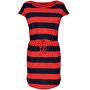 Dámske šaty May S/S Dress Noos Night Sky Block High Rish Red