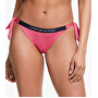Damen Laser Badeanzug Slips Cheeky Side Tie
