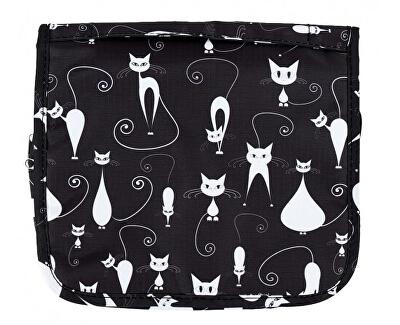 Závěsná kosmetická taška Kočky