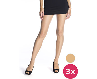 3 PACK - punčochové kalhoty Die Passt 20 DEN Almond BE290001-116