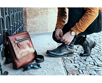Pánská crossbody taška Domus 49545107 Cognac