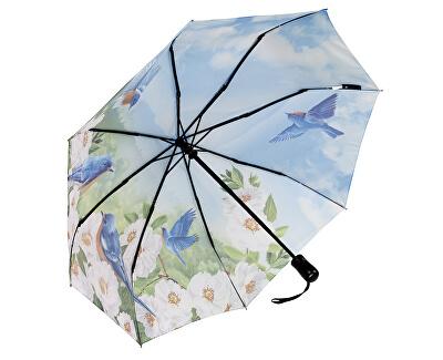 Dámský skládací plně automatický deštník Blue Birds GBFBBN