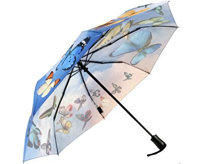 Női összecsukható esernyő automata Galleria Swirling Pillangók GBFSB