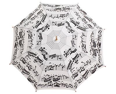 Holový deštník White Music Notes LRWP877/MM