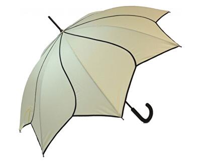 Dámský holový vystřelovací deštník Beige Swirl EDSSWBE