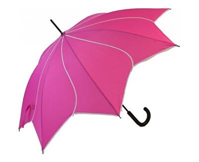 Dámský holový vystřelovací deštník Swirl Pink EDSSWP