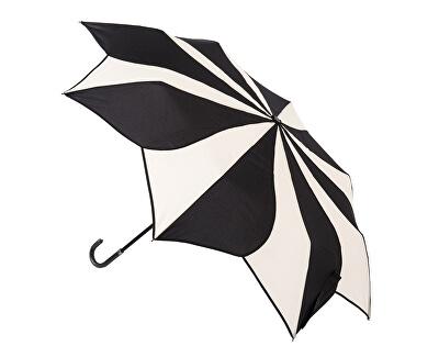 Női összecsukható esernyő fekete krém Örvény EDFSWBC