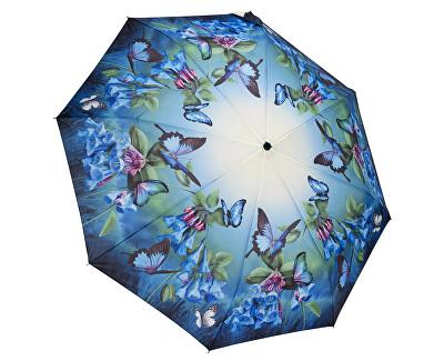 Blooming Brollies Femeile pliabile umbrelă automată Clopotele Blue GFFBB