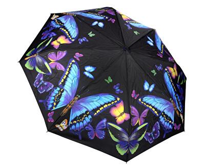 Női összecsukható automatikus esernyőGalleria Nature Moonlight Butterflies GBFMB