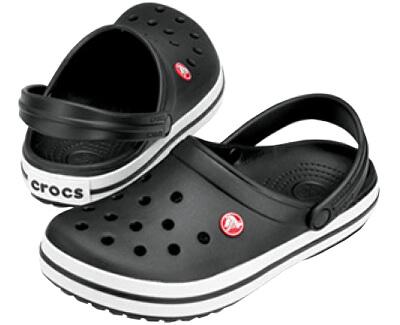 Papuci de casă Black Crocband 11016-001