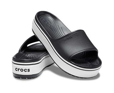 Damen Flip Flops Crocband Platform Slide Black / White 205631-066