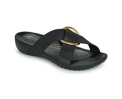 Damen Flip Flops Crocs Serena Cross Band Slde W schwarz 206099-001