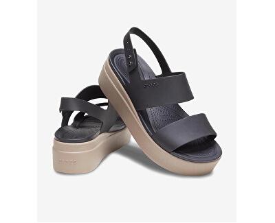 Damensandalen Crocs Brooklyn Low Wedge W Black/Mushroom 206453-07H