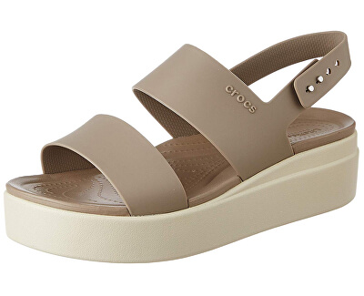 Damen Sandalen Crocs Brooklyn Low Musshroom  206453-15W