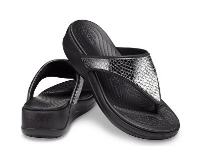 Damen Flip Flops Crocs Charcoal / Black 206303-0GQ