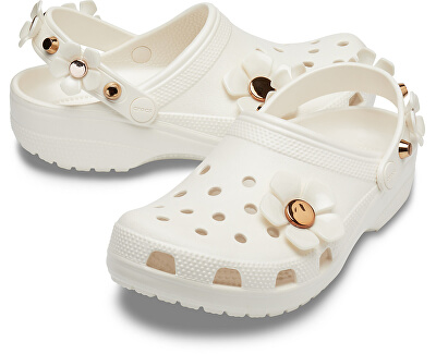 Papuci de casă Classic Metallic Blooms Clog Oyster 205585-159