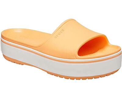 Damen Flip Flops Crocband Platform Slide Cantaloupe / White 205631-82S