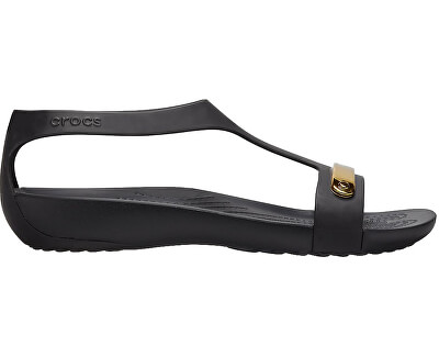 Damen Sandalen Crocs Serena Metallic Bar Sdl W gold / schwarz 206421-751