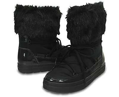 Crocs Dámské sněhule LodgePoint Lace Boot W Black 203423-001
