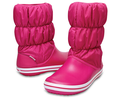 Crocs Dámské sněhule Winter Puff Boot Women Candy Pink/Candy Pink 14614-6X3