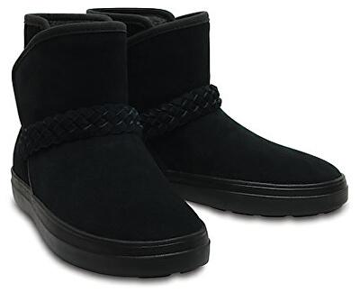 81230dc8ad5 Crocs Dámské zimní boty LodgePoint Suede Bootie W Black 204798-001 Doprava  ZDARMA