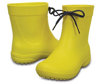 Crocs Dámské žluté holínky Crocs Freesail Shorty RainBoot Lemon 203851-7C1