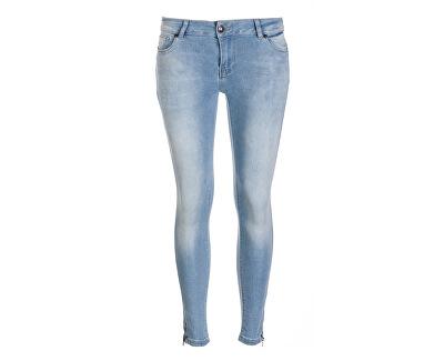 Jeans pentru femei 7/8 Zipper Bleach 7952805.33