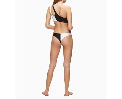 Női bikini felső One Shoulder Bandeau Pvh Black  KW0KW00885-BEH