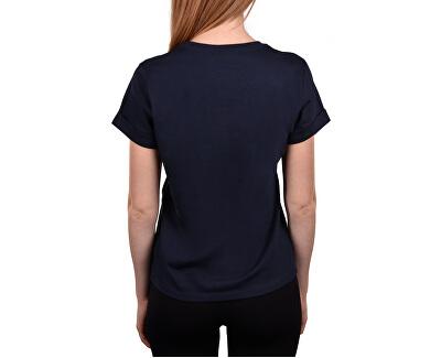 Dámske tričko S / S Crew Neck Cotton Cord Top QS5789E -0PP Shoreline