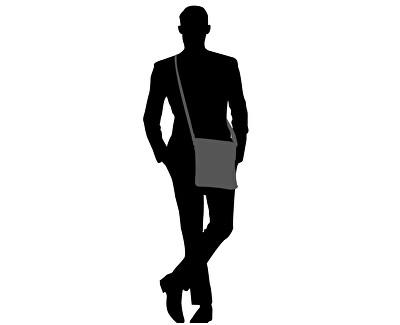 Bărbați pentru crossbody Flex Mini Flat Crossover Black