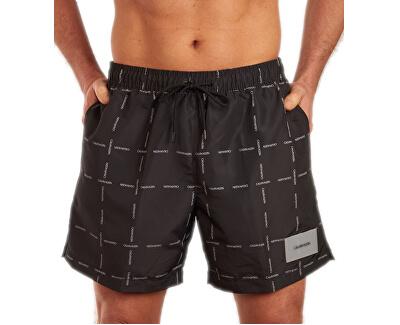 Pánské koupací kraťasy Medium Drawstring KM0KM00306-055 Cube Logo Black