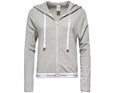 Női sportfelső  Modern Cotton Linen Extension Top Hoodie Full Zip QS5667E-020 Grey Heather