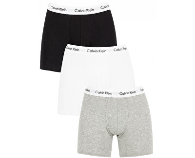 Sada boxeriek Cotton Stretch 3P Boxer Brief NB1770A-MP1 Black,White,Grey Heather