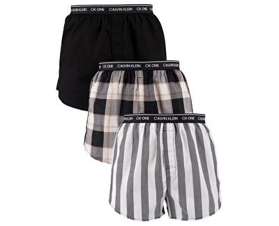 Férfi alsó szettCK One Slim Fit Boxer 3Pk NB3000A-LES Level Stripe/ Black/ Field Plaid