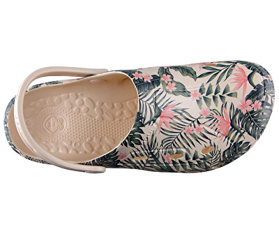 Női papucs Tina Printed Beige Tropical 1353-204-6100