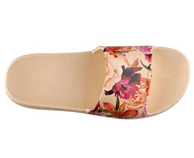Papuci de damă Tora Lt. Beige / Rose cu 7082-208-6100