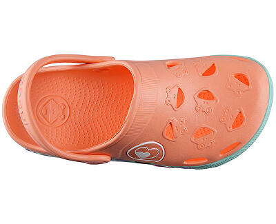 Detské šľapky Froggy Coral Hearts 8802-402-6044