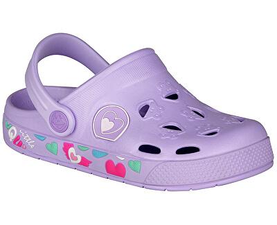 Detské papuče Froggy Lt. Lila Hearts 8802-402-0202
