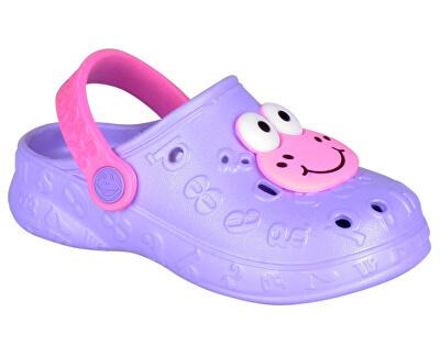 Detské papuče Hoppa Lt. Lila/Dk. Pink 9381-100-0200