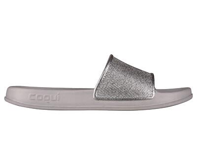 Dámske šľapky Tora Khaki Grey / Silver Glitter 7082-301-4600