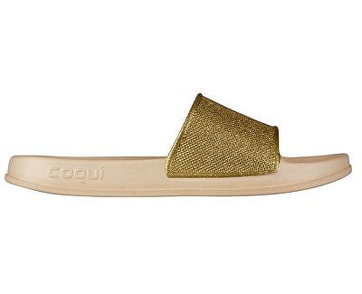 Női papucs Tora Lt. Beige / Gold csillogás 7082-302-6100