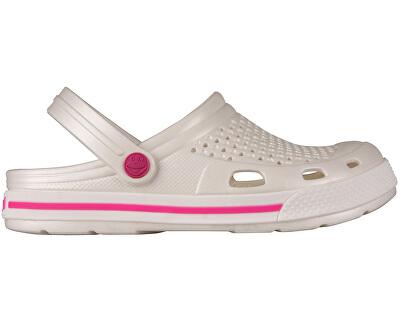 Coqui Dámské pantofle Lindo 6413 Pearl/Fuchsia 102355