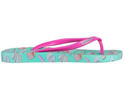 Női flip-flop papucs Kaja Printed Cupcake Fuchsia 1327-213-3905