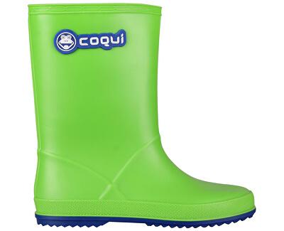 Coqui Detské gumáky Rainy 8506 Lime/Blue 102468