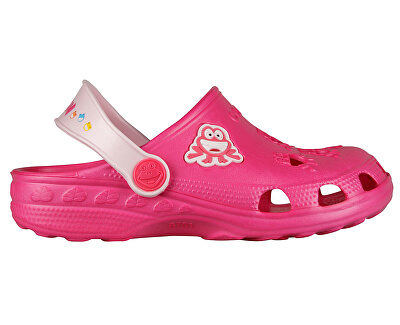 Gyerek papucs Little Frog Fukszia / halvány Pink 8701-100-3655