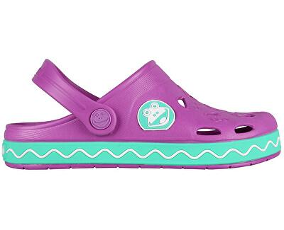 Coqui Papuci pentru copii Froggy 8801 New purple/mint 101970